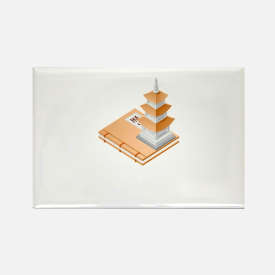 Chinese Temple Book Magnets