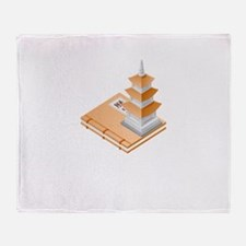 Chinese Temple Book Throw Blanket