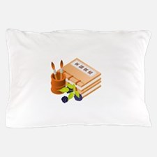 Chinese Books Pencil Table Fruit Pillow Case