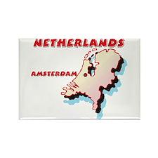 Netherlands Map Rectangle Magnet