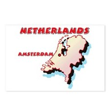 Netherlands Map Postcards (Package of 8)