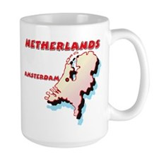 Netherlands Map Mug