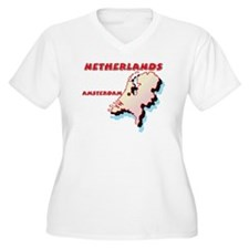 Netherlands Map T-Shirt