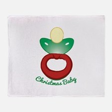 Christmas Baby Throw Blanket