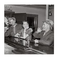 Saturday Night at the Saloon, 1937 Tile Coaster
