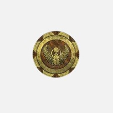 Golden Scarab Mini Button