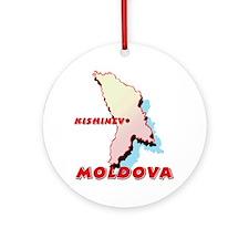 Moldova Map Ornament (Round)