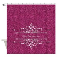Pink Glitter Shower Curtain