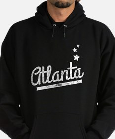 Distressed Retro Atlanta Logo Hoodie