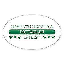 Hugged Rottweiler Oval Decal