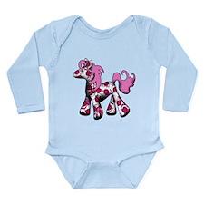 Pink Pony Long Sleeve Infant Bodysuit