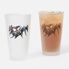 Passenger Pigeons Drinking Glass