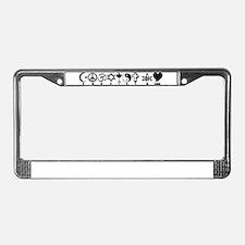 Cute Coexist License Plate Frame