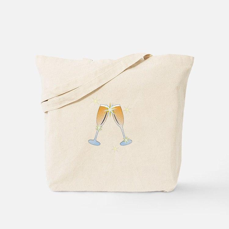 Champagne Toast Tote Bag