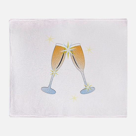 Champagne Toast Throw Blanket