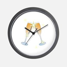 Champagne Toast Wall Clock