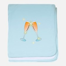 Champagne Toast baby blanket