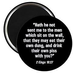 2 Kings 18:27 Magnet