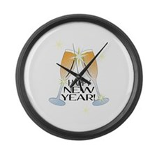 Happy New Year Large Wall Clock