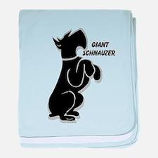 giant schnauzer sit up baby blanket
