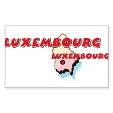 Luxembourg Map Rectangle Decal