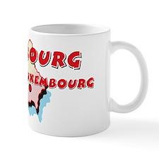 Luxembourg Map Mug