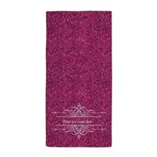 Pink Glitter Beach Towel