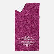 Pink Glitter Beach Towel