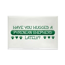 Hugged Pyrenean Rectangle Magnet