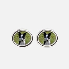Cat.png Oval Cufflinks