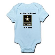 My Uncle Is A Hero Army Body Suit