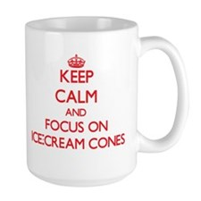 Keep Calm and focus on Ice-Cream Cones Mugs