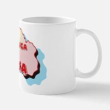 Latvia Map Mug