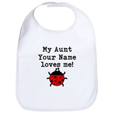 My Aunt Loves Me Ladybug Bib
