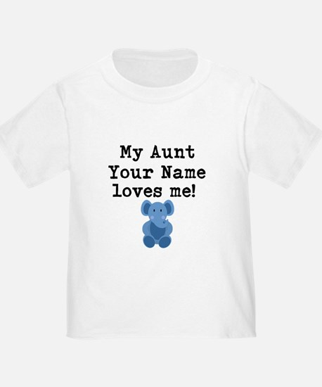 My Aunt Loves Me Blue Elephant T-Shirt