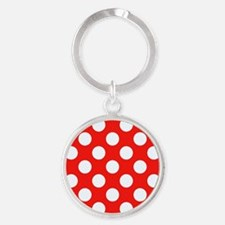 Retro Red Polkadots Keychains