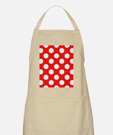 Retro Red Polkadots Apron