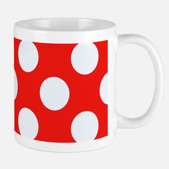 Retro Red Polkadots Mugs