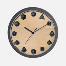 D20 Set Wall Clock