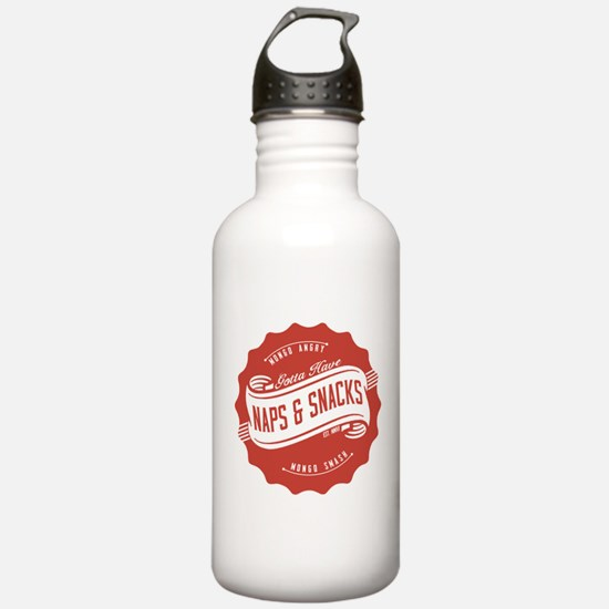 Naps and Snacks Water Bottle