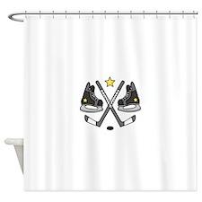 . Ice Hockey Gear Shower Curtain