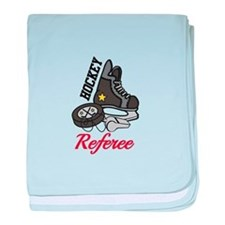 Hockey Referee baby blanket