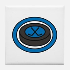 Ice Hockey Puck Tile Coaster