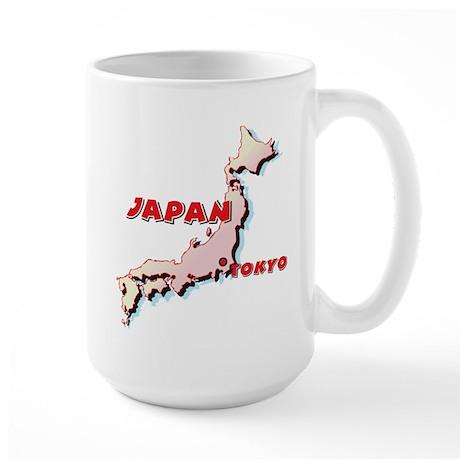Japan Map Large Mug