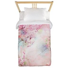 Pink Watercolor Floral Twin Duvet