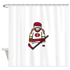Hockey Clothes Shower Curtain