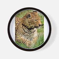 Cute Leopard print Wall Clock