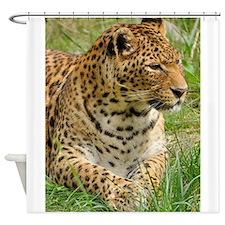 Unique Black leopard Shower Curtain
