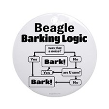 Beagle Logic Ornament (Round)