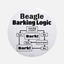 Beagle Logic Ornament (Round)